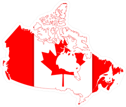 Flag Map Of Canada Sticker