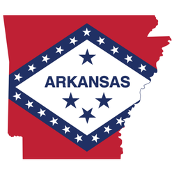 Flag Map Of The Federal State Of Arkansas Sticker