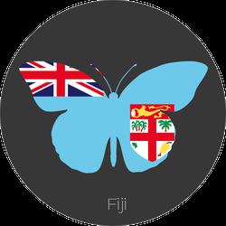 Flag Of Fiji Butterfly Sticker