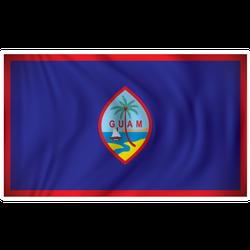Flag Of Guam Illustration Sticker