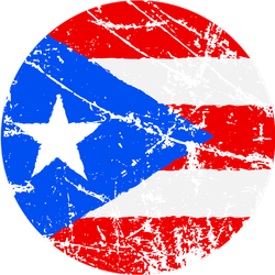 Flag Of Puerto Rico Grunge Sticker