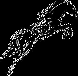 Flame Trail Horse Sticker