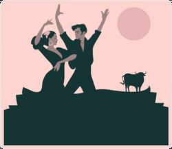 Flamenco Dancers Sticker