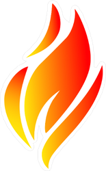 Flames in the Wind Sticker