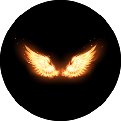 Flaming Angel Wings Sticker