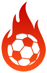 Flaming Soccer Sticker