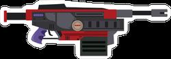 Flat Cartoon Heavy Machine Gun Sticker
