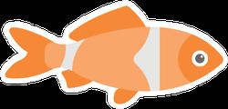 Flat Clown Fish Sticker