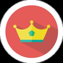 Flat Crown Shadow Sticker