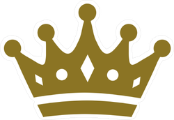Flat Crown with Details Sticker