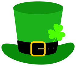 Flat Design Leprechaun Hat Sticker