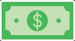 Flat Dollar Illustration Sticker