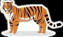 Flat Geometric Tiger Sticker