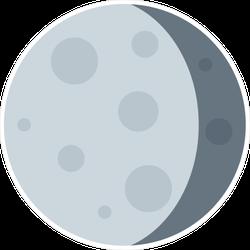 Flat Moon Icon Sticker