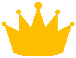 Flat Royal Gold Crown Sticker