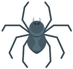 Flat Spider Sticker