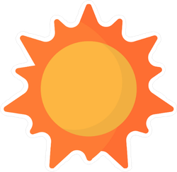 Flat Sun Icon Sticker