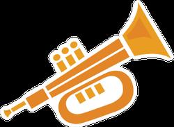 Flat Trumpet Icon Sticker