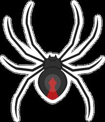 Flat Vector Style Black Widow Sticker