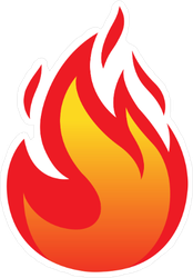 Flickering Small Flame Sticker