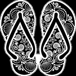 Flip Flops Mandala Art Sticker