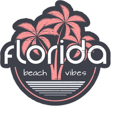 Florida Beach Vibes Sticker