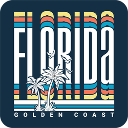 Florida Golden Coast Sticker