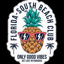 Florida - South Beach Club Sticker