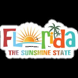 Florida Theme Name Sticker