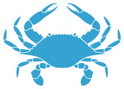 Flower Crab Blue Swimmer Sticker
