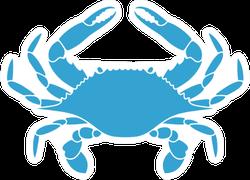 Flower Crab Blue Swimmer Sticker