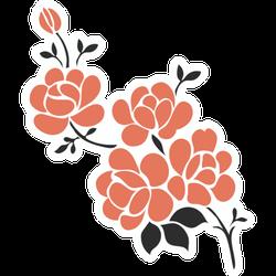 Flower Tattoo Elements Sticker