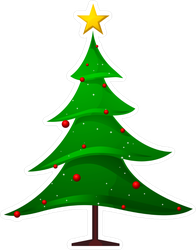 Flowing Christmas Tree Sticker