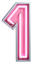 Fluorescent Pink Tubes Number 1 Sticker