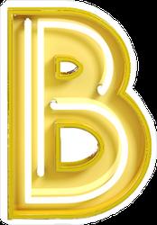Fluorescent Yellow Tubes Letter B Sticker