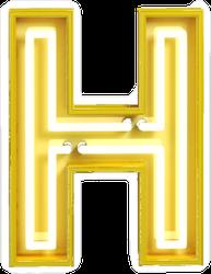 Fluorescent Yellow Tubes Letter H Sticker