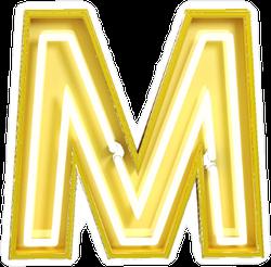 Fluorescent Yellow Tubes Letter M Sticker