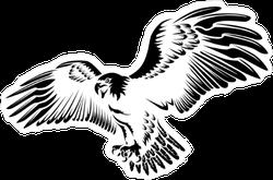 Flying American Eagle Sticker