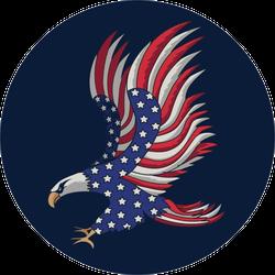 Flying American Flag Eagle Sticker