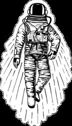 Flying Astronaut Spaceman Sticker
