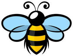Flying Bee Symbol Sticker