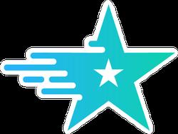 Flying Blue Star Sticker