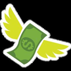 Flying Dollar Sticker