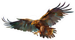 Flying Eagle Drawing Sticker