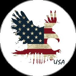 Flying Eagle USA Flag Background Sticker