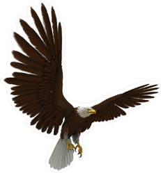 Flying Eagle With Wings Spread Sticker