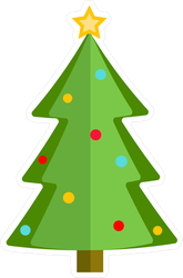 Folded Christmas Tree Sticker