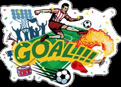 Football Goal Sticker