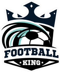 Football King Soccer Crown Sticker