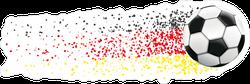 Football With German Flag Confetti Sticker